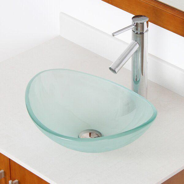 Mini Tempered Glass Oval Vessel Bathroom Sink In 2020 Sink Glass Bathroom Glass Vessel Sinks