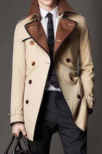 Wool Collar Trench...