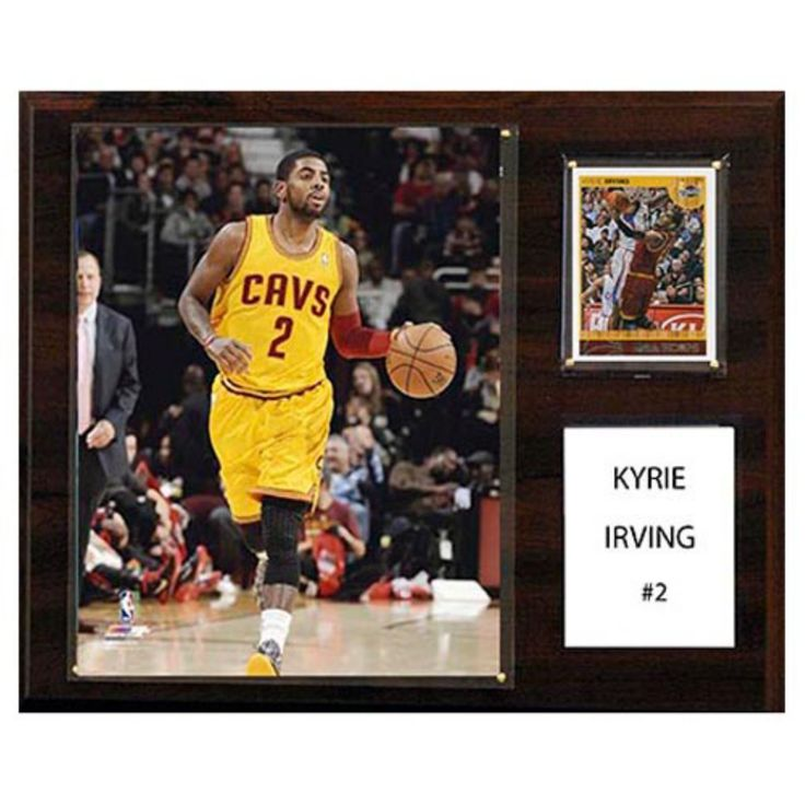 C and I Collectables NBA 15W x 12H in. Kyrie Irving Cleveland Cavaliers Player Plaque - 1215IRVING
