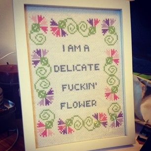 This truly enchanting self-description. | 26 Bold Cross Stitches You Need For Your Home