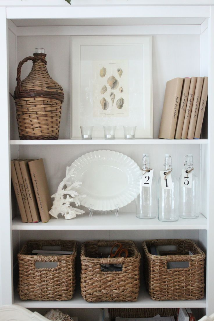 Home Organization Ideas and Bookcase Styling | The Starfish Cottage Tour