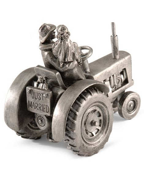 Just Hitched Tractor Wedding Cake Topper