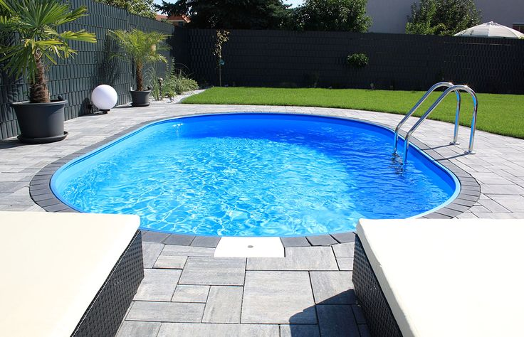 So ein traumhafter Swimmingpool kann schon bald für wenig Geld in Ihrem Garten stehen! ;-) #pool #ovalpool #gartenpool #garten #schwimmbecken