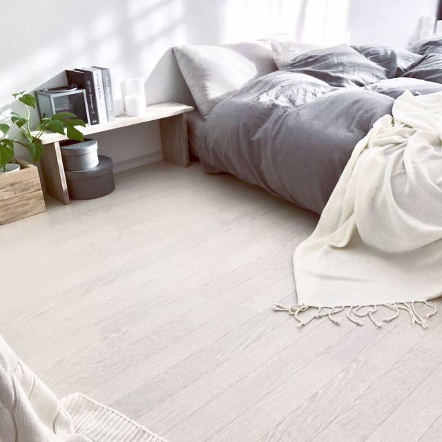 SEIMI_07さんの、ベッド周り,無印良品,IKEA,DIY,Francfranc,モノトーン,モンステラ,ホワイト,海外インテリア,グレージュ,海外インテリアに憧れる,NO GREEN NO LIFE,グリーンのある暮らし,グレージュインテリア,のお部屋写真