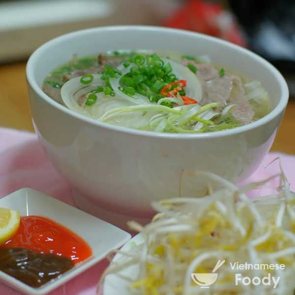 One of the keys to a great broth is good leg bones, which are often sold at supermarkets as Vietnamese Beef Noodle Soup (Pho Bo) bones.