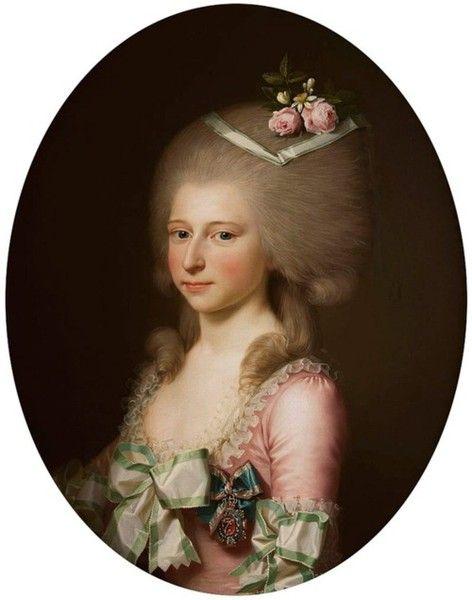 1784 portrait of princess Louise Augusta by Jens Juel