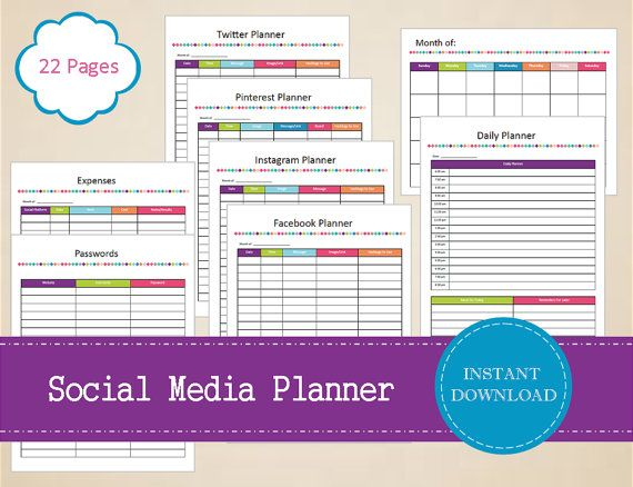 Social Media Planner  Social Media Kit  by MBucherConsulting