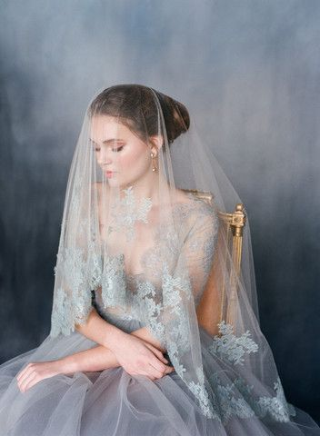 Emily Riggs Bridal   Reverie   something blue, blue wedding dress, lace, tulle