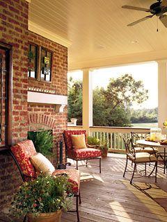 Back porch....loving it!!