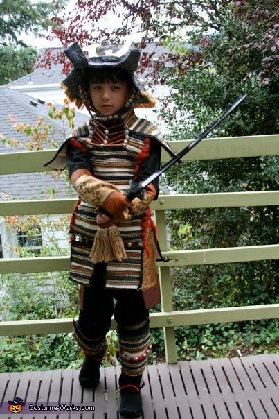 Karen: This is a Japanese samurai costume based on a model from the Muromachi Era (1100-1300 AD). It includes all of the major parts of an authentic samurai armor, but is...