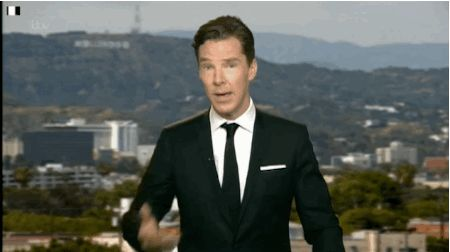 He likes business on top, party on the bottom. | 31 Reasons We're Addicted To Benedict Cumberbatch..gif