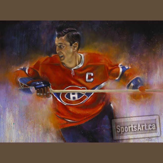Montreal Canadiens legend Jean Beliveau. Painting by Gary McLaughlin. Rest in Peace.