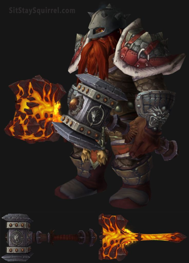 Dwarf Male Enhancement Shaman Artifact Transmog Set. World of Warcraft Legion