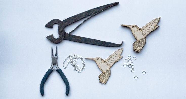 Hummingbirds, colibri necklace