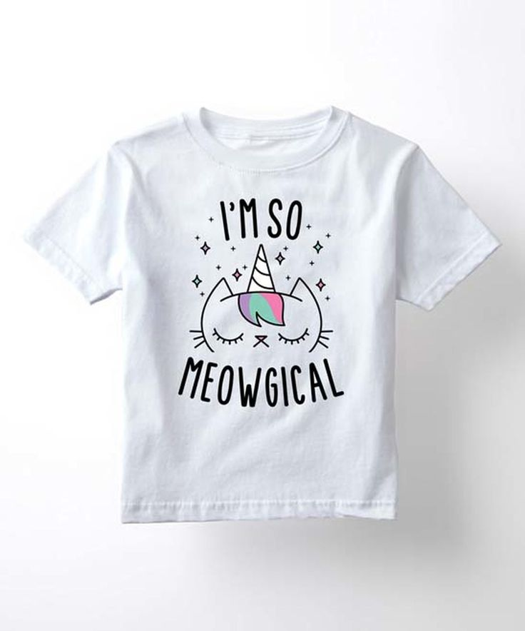 Another great find on #zulily! White 'I'm so Meowgical'  Tee - Kids & Tween by Mokuyobi Threads #zulilyfinds