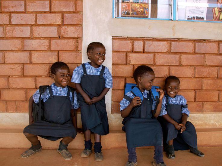 Smiling at the Lubumbashi Football for Hope Centre. Lubumbashi, Democratic Republic of Congo.