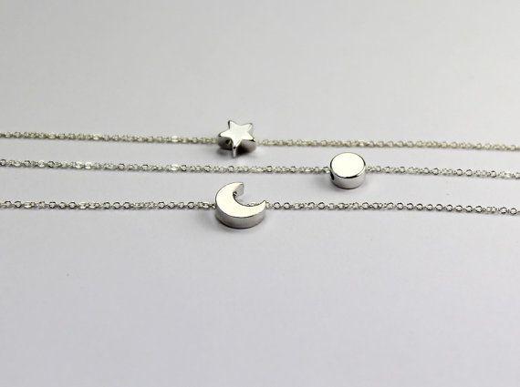 Three Best Friends Jewelry. Sun Moon Star bracelet by ElseJewelry