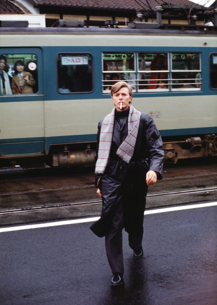 meet the man who photographed david bowie for 40 years | A Day in Kyoto 3 - Platform, 1980 Masayoshi Sukita