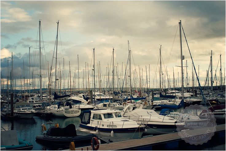 Dramatic sky over #Lymington yacht haven