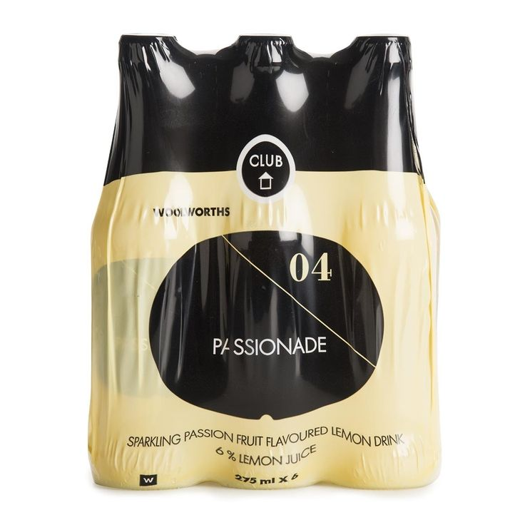 Passionade Sparkling Passion Fruit Lemon Drink 6x275ml