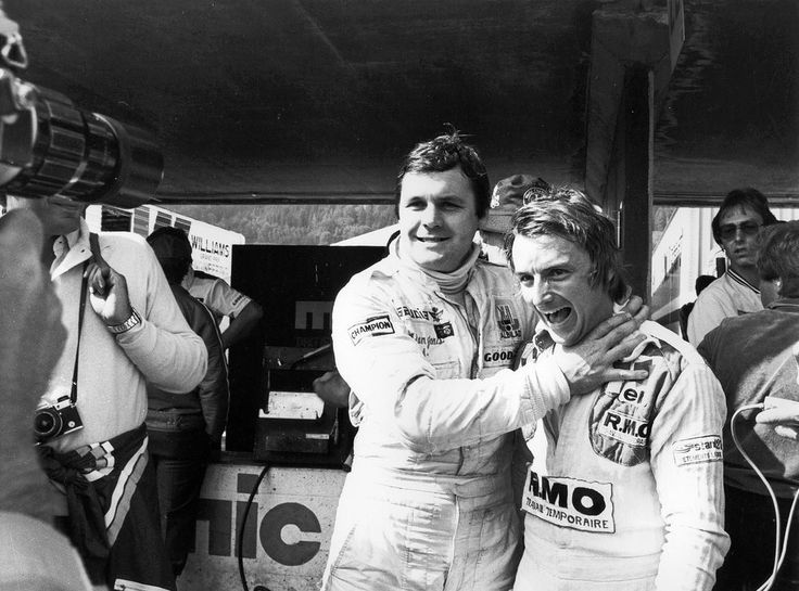 Alan Jones with Rene Arnoux