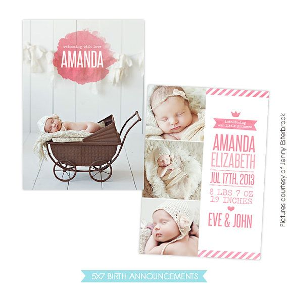 88 best birth announcement templates images on Pinterest Adobe - announcement template