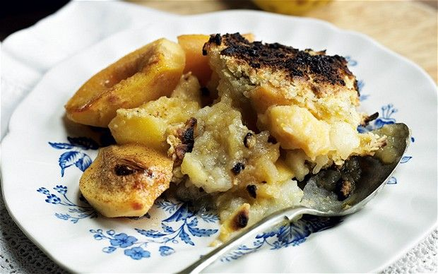 Quince and apple crumble recipe