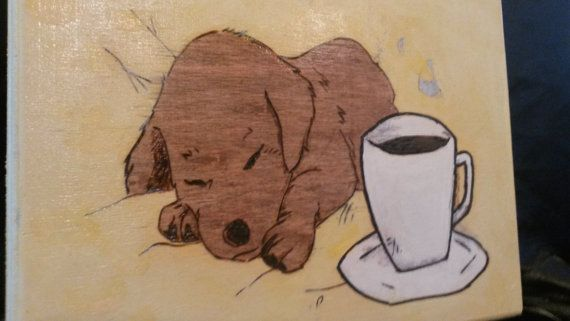 Check out this item in my Etsy shop https://www.etsy.com/listing/233296087/good-morning-wood-burning-sleeping-puppy