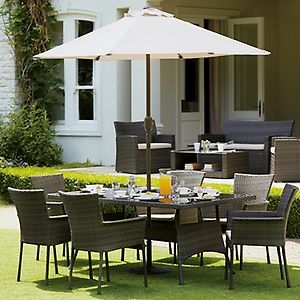 mali rattan effect 6 seater brown garden furniture set home delivery