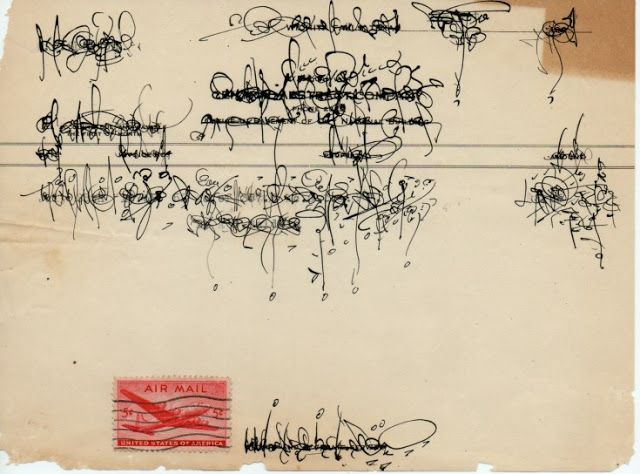 asemic net: Asemic Palimpsest Correspondence by Cecil Touchon