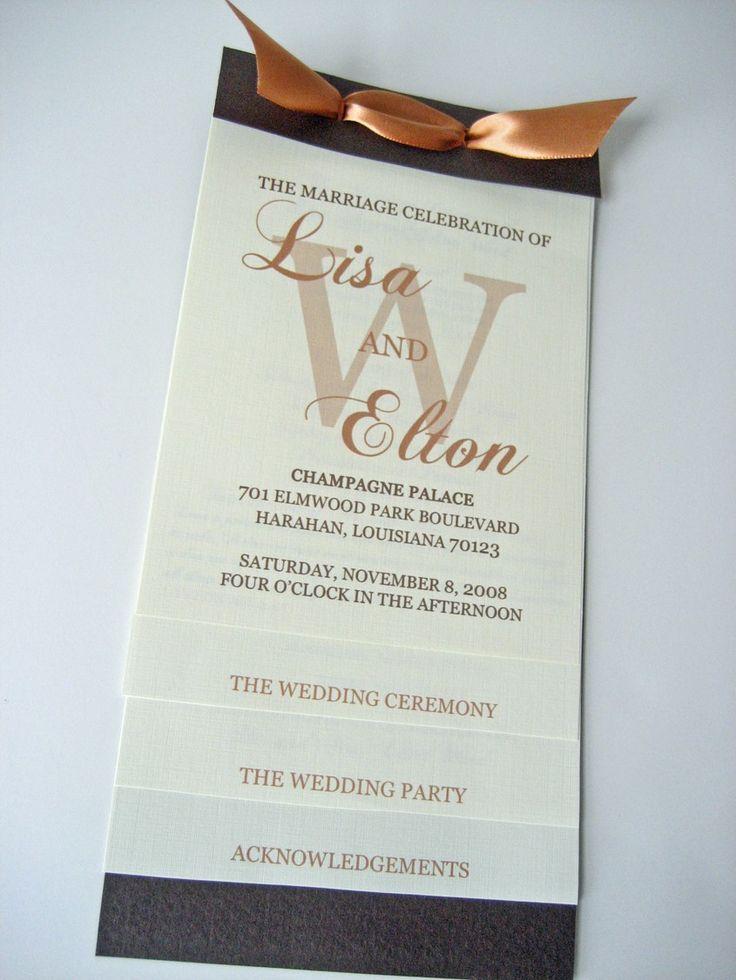 wedding program wording - like the way this is set up