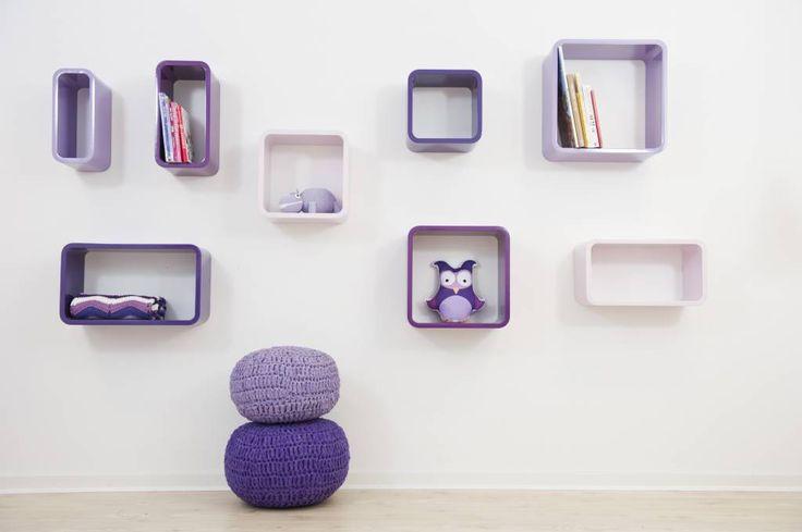 Sebra boekenkastjes ovaal paars - De Kleine Generatie