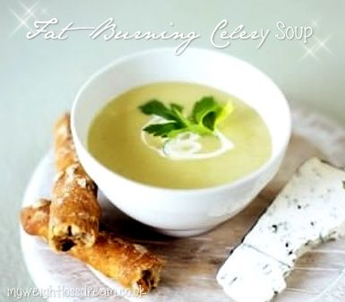 My Low Calorie Fat Burning Celery Soup. #fatburning #fatburningrecipes #celerysoup