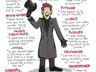 A CHRISTMAS CAROL Quotes GCSE REVISION Poster SCROOGE'S NEPHEW, FRED | A christmas carol quotes ...