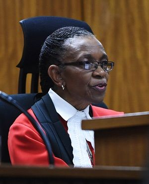 Judge Thokozile Masipa delivers her judgement in the Oscar Pistorius murder trial. (Phill Magakoe/Independent Newspapers/Pool)