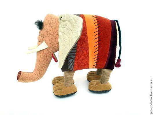 Игрушки животные, ручной работы. Ярмарка Мастеров - ручная работа. Купить Интерьерная мягкая игрушка «Слон Дамбо». Handmade. Коричневый