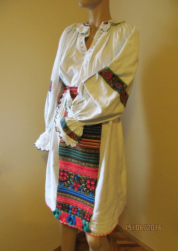 Vintage Romanian costume from Transylvania, 50 - 70 yo complete ethnic costume Nasaud for sale at www.greatblouses.com
