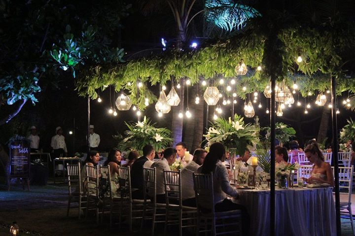 Wedding day feels extra special while enjoying warm ocean breeze under a canopy of gently swaying hanging lights with your partner for life.  Our wedding planning team will assist you in planning your memorable wedding reception dinner in the stunning beachfront lawns of WakaGangga resort on Gangga Beach Tabanan Bali.  http://ift.tt/2haeWv2  #wakagangga #wakahotelsandresorts #bali #explorebali #thebalibible #thebaliguide #ubudhood #digitalnomad #luxurytravel #luxuryhotel #wonderfulindonesia…