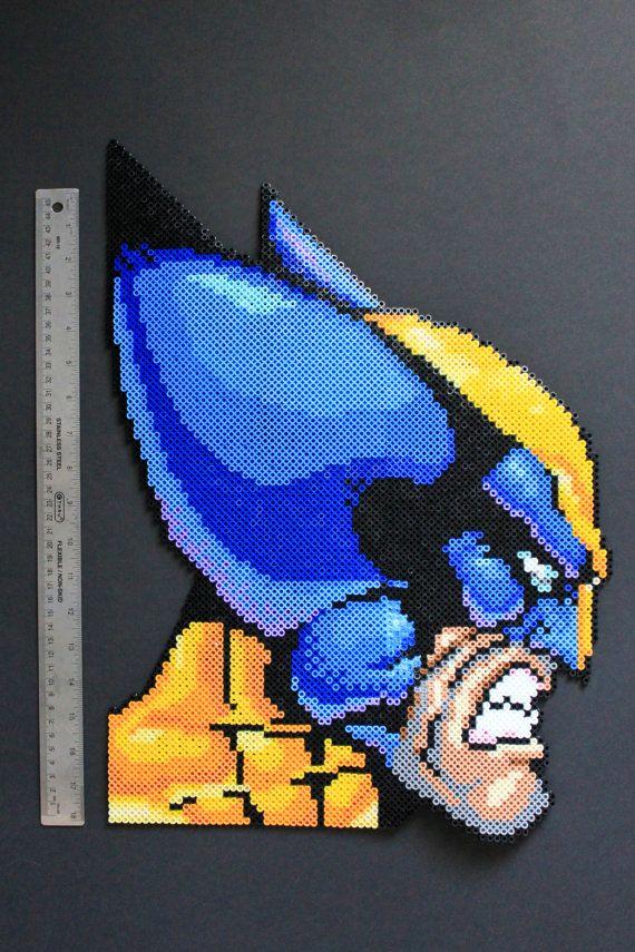 Carcajou Perler Bead Pixel Art encadré Tenture par kelseyrushing