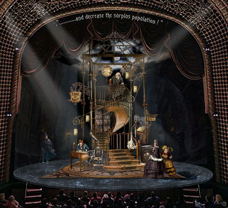 daniel conway's design for a new production of a christmas carol for milwaukee rep directed by aaron posner