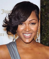 Meagan Good Hairstyle: Formal Short Wavy Hairstyle.  Love this cut.  I am seriously thinking about getting this look.