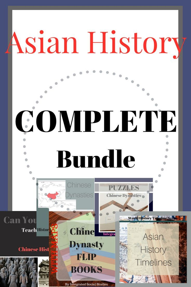 This bundle updates for free as I add more Asian history products! If you teach world history or Asian history this bundle is perfect for you. You get timelines, flip books, puzzles, maps, and a teacher quiz/study guide with so much more to come!