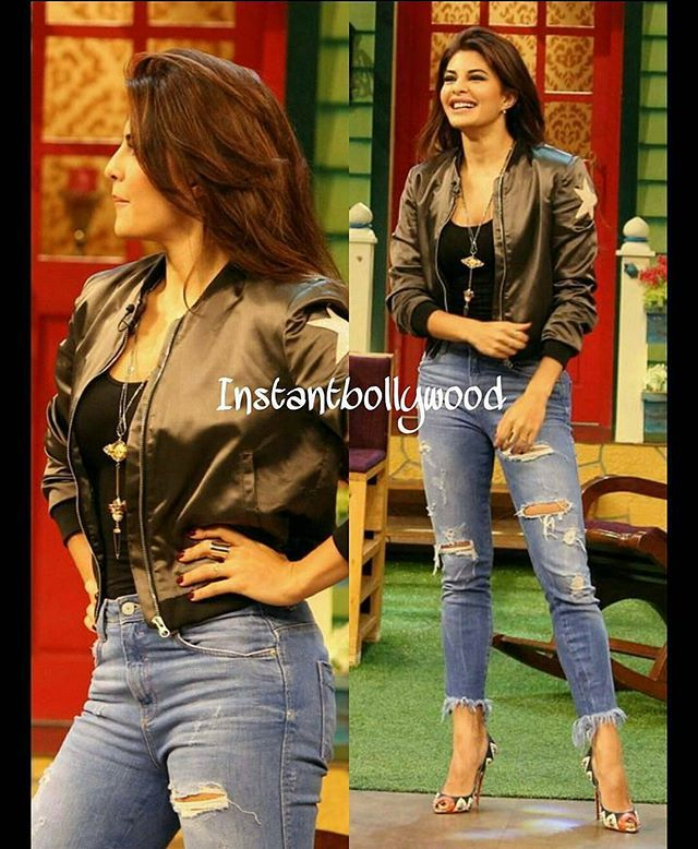Jacqueline Fernandez looks stunning on the sets of The Kapil Sharma Show for Dishoom promotions  @BollywoodImages ❤❤❤ . .