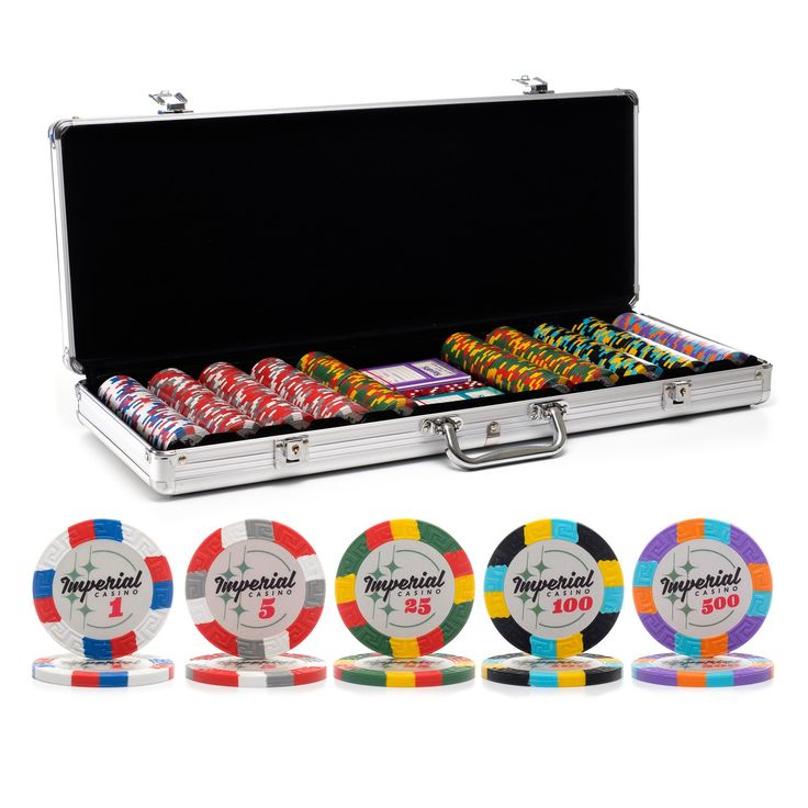 Brand new poker chip set!   500 pc. 14g Imperial Poker Chip Set with Aluminum Case | Casino Supply