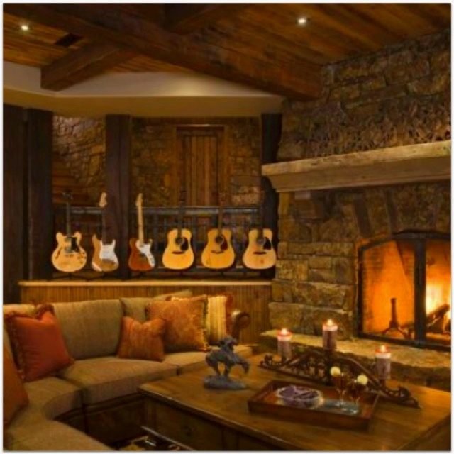 Cozy Country Style Living Room Future Wall