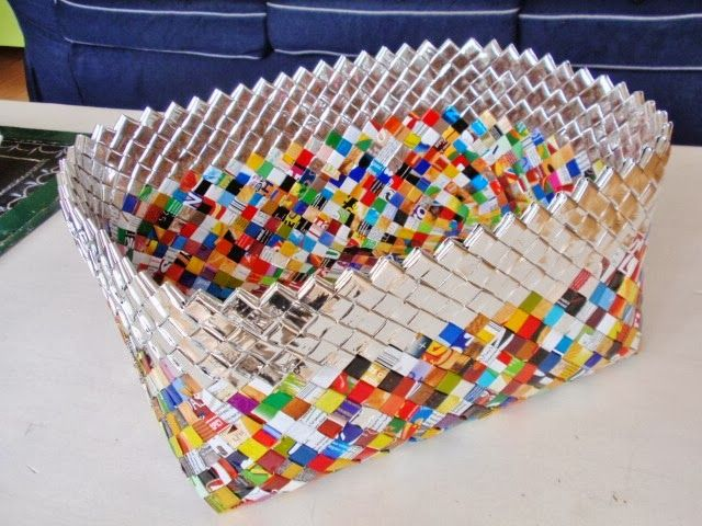 alles-vanellis gemaakt van chips- en koffieverpakkingen