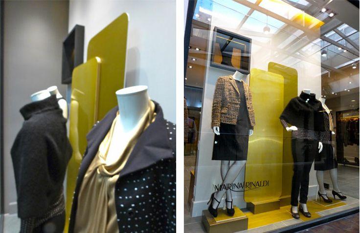 MM [ VITRINA ]  Producimos e instalamos las vitrina de las marcas Marella y Marina Rinaldi, del grupo Max Mara; para la apertura de la tienda M M en el Centro Comercial El Retiro en Bogotá.
