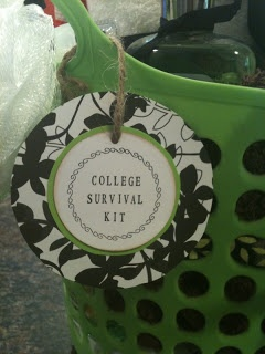 College Dorm Survival Kit. Cute for new graduates and for friends/ family members who are moving for the first time