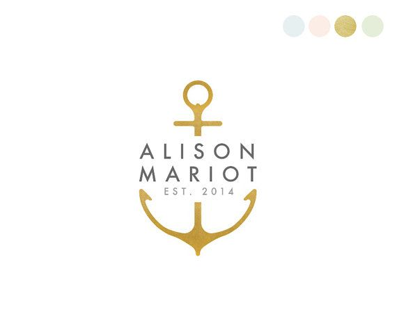 Anchor Logo Design. Nautical Logo. Ocean by CrookedLittlePixel