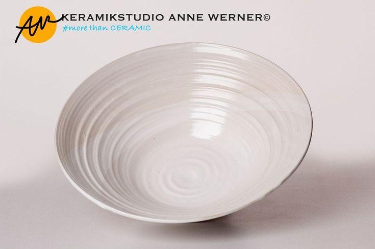 Schale#CLASSIC KERAMIKSTUDIO ANNE WERNER© Weiß Modern Zeitlos Handmade Keramik  | eBay